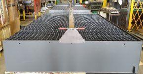 24 foot x 13.3 foot downdraft system